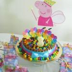 Bolo Festa Peppa Pig Princesa da Cris