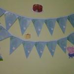 Bandeirinha Varalzinho Festa George Pig do Fabricio