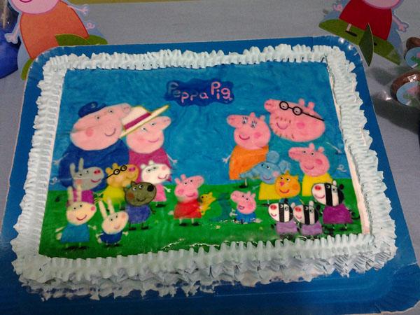 Bolo Festa George Pig do Fabricio