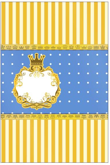 Bala Personalizada Fundo Príncipe Azul e Dourado
