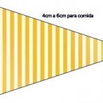 Bandeirinha Fundo Príncipe Azul e Dourado 4