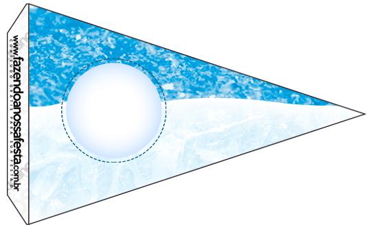 Bandeirinha Sanduiche 2 Olaf Frozen