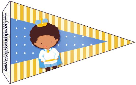 Bandeirinha Sanduiche 3 Príncipe Afro