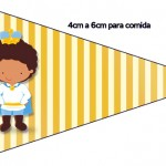 Bandeirinha Sanduiche 4 Príncipe Afro