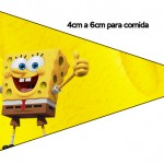 Bandeirinha Sanduiche Bob Esponja - Um Herói Fora D'Água