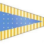 Bandeirinha Sanduiche Fundo Príncipe Azul e Dourado 2