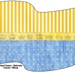 Bandeirinha Sanduiche Fundo Príncipe Azul e Dourado