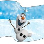 Bandeirinha Sanduiche Olaf Frozen