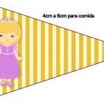 Bandeirinha Sanduiche Princesa Loira 3