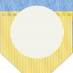Bandeirinha Varalzinho Fundo Príncipe Azul e Dourado