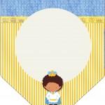 Bandeirinha Varalzinho Príncipe Afro