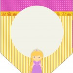 Bandeirinha Varalzinho Princesa Loira