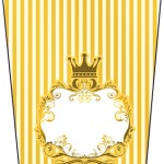 Bisnaga Flip Top Fundo Príncipe Azul e Dourado