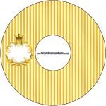 CD DVD Fundo Príncipe Azul e Dourado