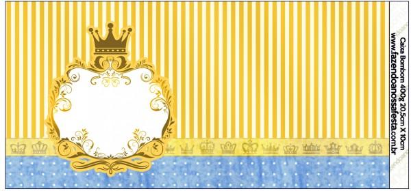 Caixa Bombom Fundo Príncipe Azul e Dourado 2