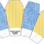 Caixa China in Box Fundo Príncipe Azul e Dourado