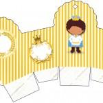 Caixa Cupcake Príncipe Afro