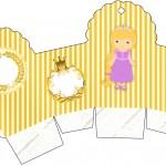 Caixa Cupcake Princesa Loira