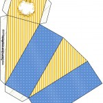 Caixa Fatia Fundo Príncipe Azul e Dourado