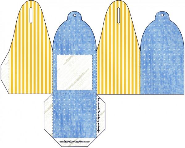 Caixa Foto Fundo Príncipe Azul e Dourado