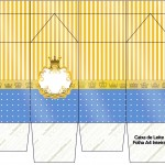 Caixa Lata de Leite Fundo Príncipe Azul e Dourado 5