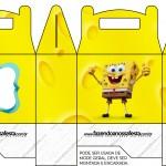 Caixa Lembrancinha Bob Esponja - Um Herói Fora D'Água
