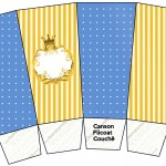 Caixa Pipoca Fundo Príncipe Azul e Dourado