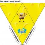 Caixa Pirâmide Bob Esponja - Um Herói Fora D'Água
