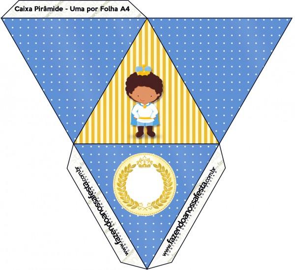 Caixa Pirâmide Príncipe Afro