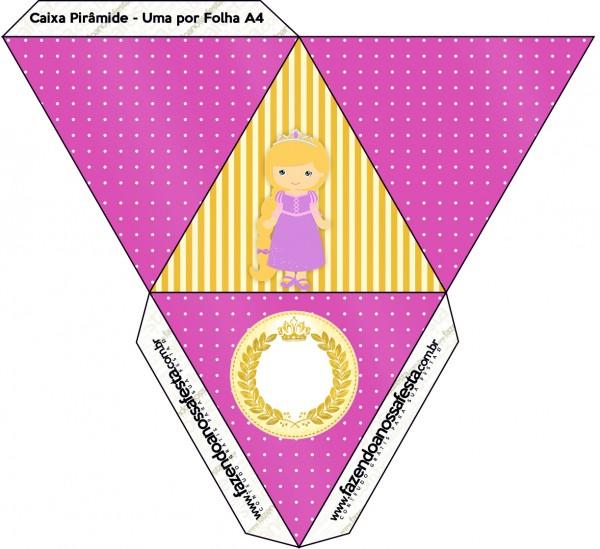 Caixa Pirâmide Princesa Loira