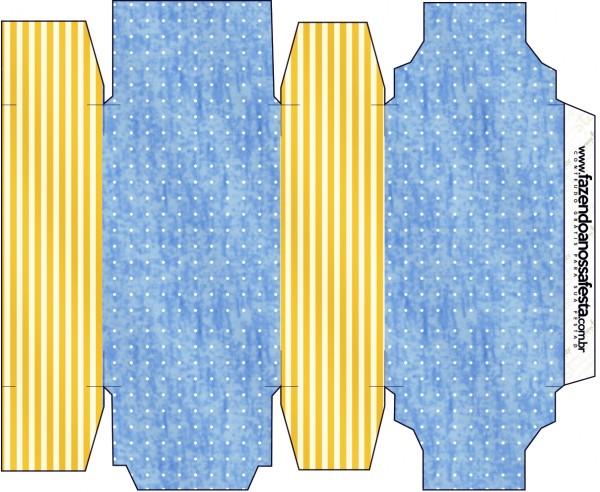 Caixa Sabonete Fundo Príncipe Azul e Dourado