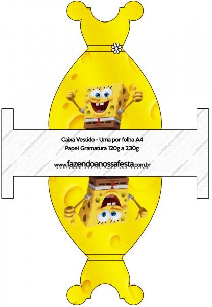 Caixa Vestido Bob Esponja - Um Herói Fora D'Água