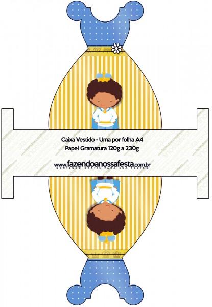 Caixa Vestido Príncipe Afro