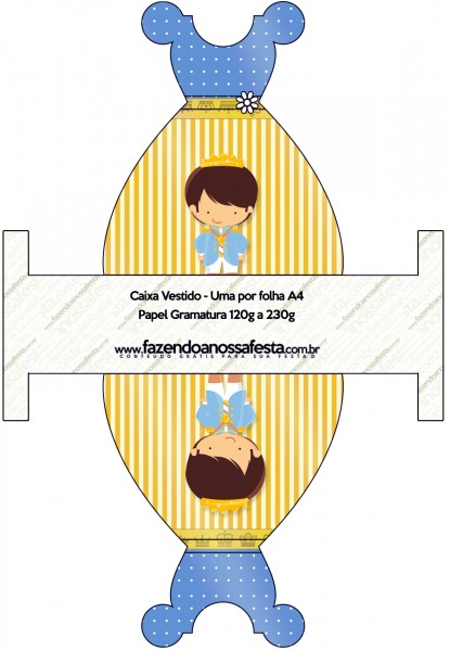 Caixa Vestido Príncipe Moreno