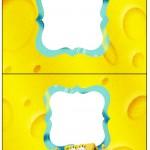 Cartão Agradecimento de Mesa Bob Esponja - Um Herói Fora D'Água