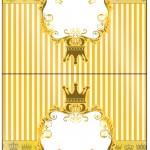 Cartão Agradecimento de Mesa Fundo Príncipe Azul e Dourado