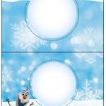 Cartão Agradecimento de Mesa Olaf Frozen