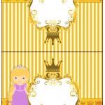 Cartão Agradecimento de Mesa Princesa Loira