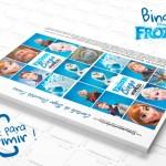 Cartela Bingo Frozen