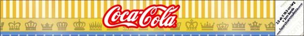 Coca-cola Fundo Príncipe Azul e Dourado