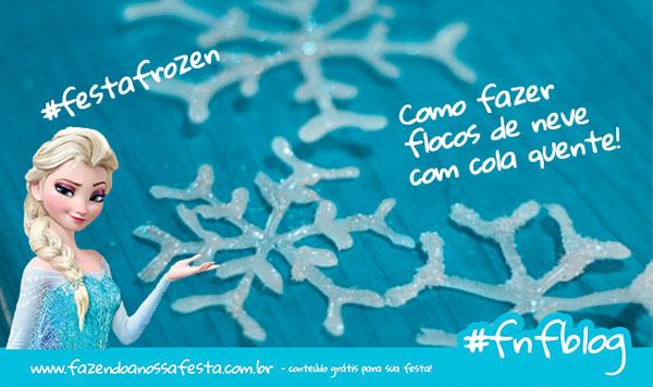 Como fazer flocos de Neve Frozen