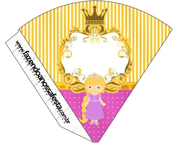 Cone Guloseimas Princesa Loira