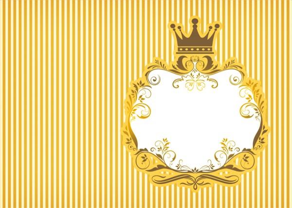 Convite 6 Fundo Príncipe Azul e Dourado
