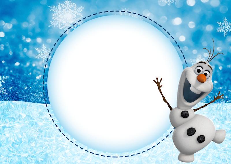 Convite Olaf Frozen