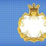 Convite 7 Fundo Príncipe Azul e Dourado