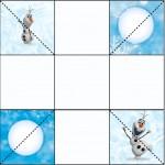 Convite Caixa Fundo Olaf Frozen
