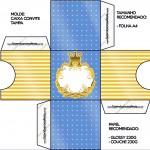 Convite Caixa Tampa Fundo Príncipe Azul e Dourado