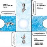 Convite Caixa Tampa Olaf Frozen