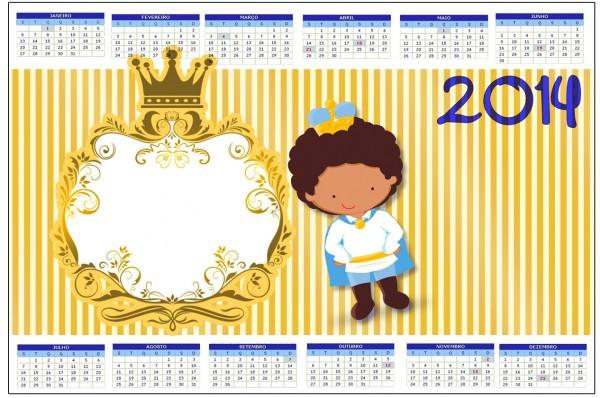 Convite Calendário 2014 Príncipe Afro