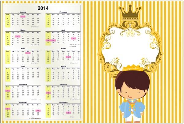Convite Calendário 2014 Príncipe Moreno 2